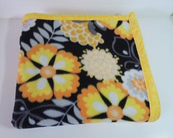 Yellow, Black and Orange fleece blanket