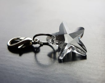 Crystal Starfish Dangle/Charm for Floating Lockets, Necklace, or Bracelets-Clear-Gift Idea