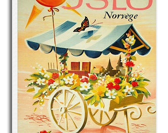 Oslo Art Norway Travel Poster Vintage Home Decor Print Retro xr508