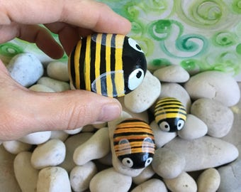 Bumblebee Handpainted Stones