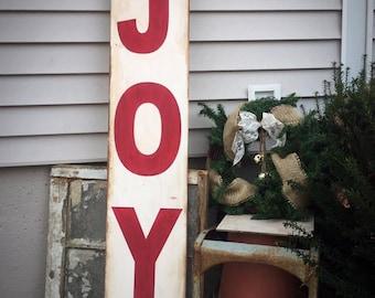 primitive Christmas, joy sign, standing sign, Christmas sign wood, primitive signs, entryway sign, entry way decor, wooden sign pallet