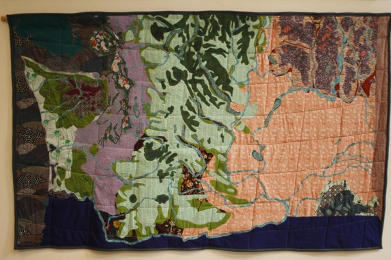 Washington state map applique quilt gumiabroncs Image collections