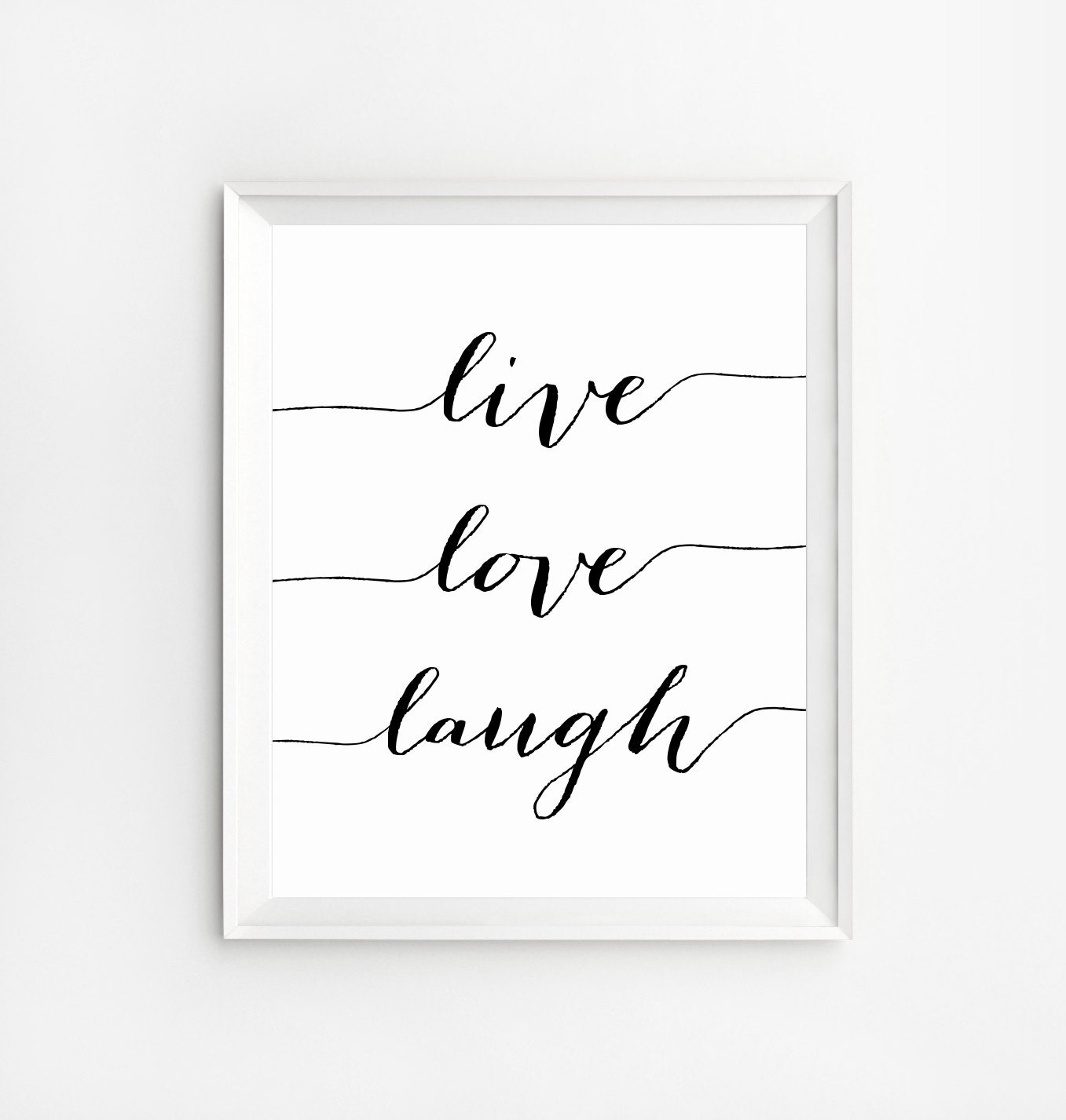 Love Art Quotes Live Love Laugh Positive Quotes Wall Art Print Wall Art