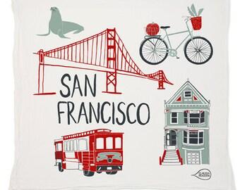 San Francisco Tea Towel