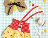 items similar to doll dress and cape pdf sewing pattern