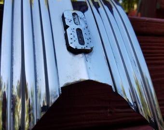 Vintage  1950 Pontiac Silver Streak Trunk Molding, Pontiac Silver Streak Chrome Molding, Pontiac Collectible, Man Cave Decor, Vintage Auto