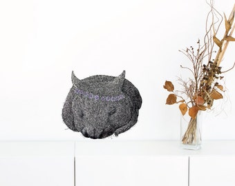 Wombat Marguerite Removable Wall Sticker