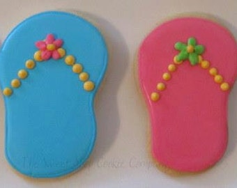 Flip Flop Cookies 2 dozen