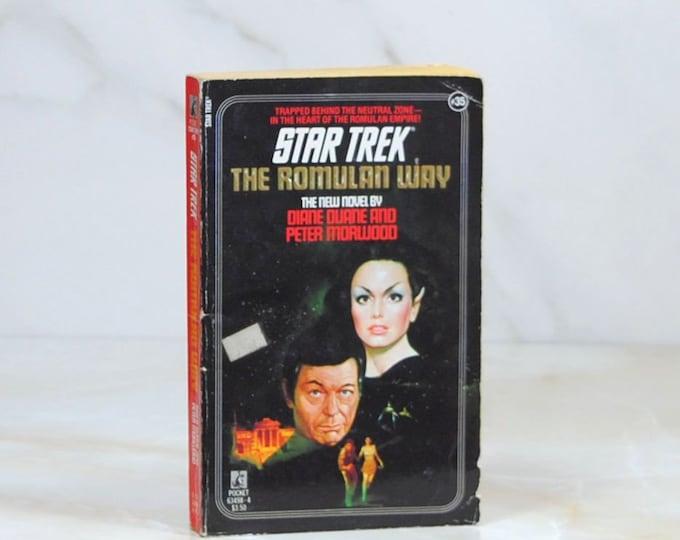 Vintage Star Trek Book, The Romulan Way, Paperback, 1987, Original Series, 254 Pages, No 35, Diane Duane, Peter Morwood, Neutral Zone