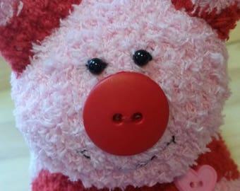 Cupig, sock pig, flying pig, handmade