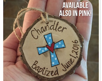 Baptism dedication first communion ornament, personalized ornament, wood burning ornament, holiday ornament, Christmas ornament