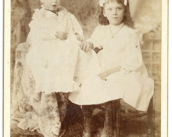 Cabinet card- two children