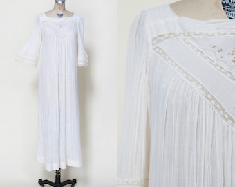 1970s Boheme Wedding Dress /// Vintage Boho Christian Dior Gown