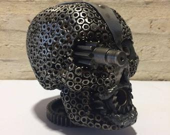 Recycled Metal Skull