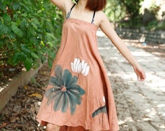 summer dress womens summer dresses long skirt womens plus size dress womens plus size dresses womens hand painted dress womens long dress
