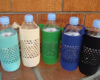 Water Bottle Holder (up to 800 ml bottle), Festival Drink holder, Cotton Water Bottle Carrier, Eco friendly Gift, Mothers Day Gift