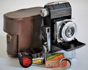 Kodak Retina I (Type 149) 35mm camera w/ 5cm f3.5 Xenar Lens, w Case, Filters