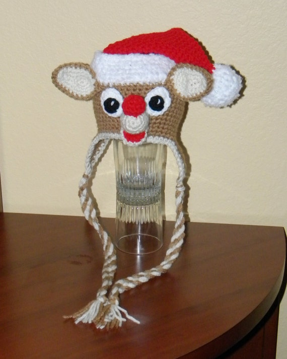 Red Nose Reindeer Holiday Christmas Hat - Any Size
