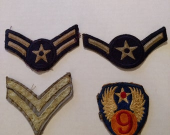 4 Antique Military Patches