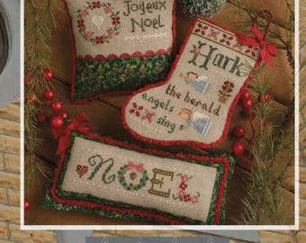 LAST ONE!!! LIZZIE*KaTE 2017 Flora McSample Treats counted cross stitch patterns at thecottageneedle.com Christmas smalls stocking