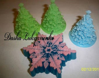 New year and Christmas handmade soap