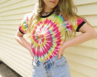 Classic Tie-Dye Ringer T-Shirt