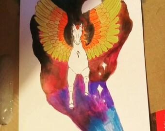 Galaxy Pegasus Print Framed