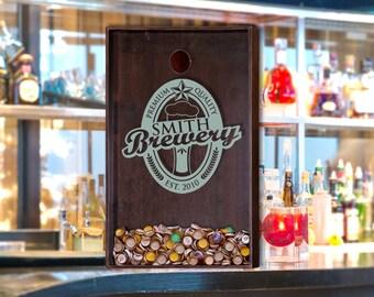 24x36 Beer Bottle Cap Holder - Wall Decor Personlized Art / Beer Decor / Man Cave / Craft Beer / Beer Quote