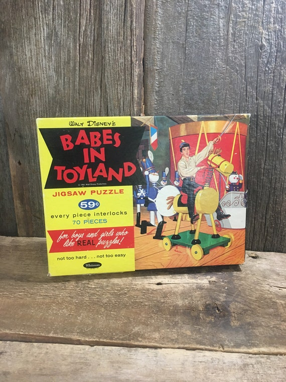 Vintage Babes in Toyland puzzle, Walt Disney puzzle, 1961 Babe in toyland puzzle, vintage jigsaw puzzle, vintage disney puzzle, kids puzzle