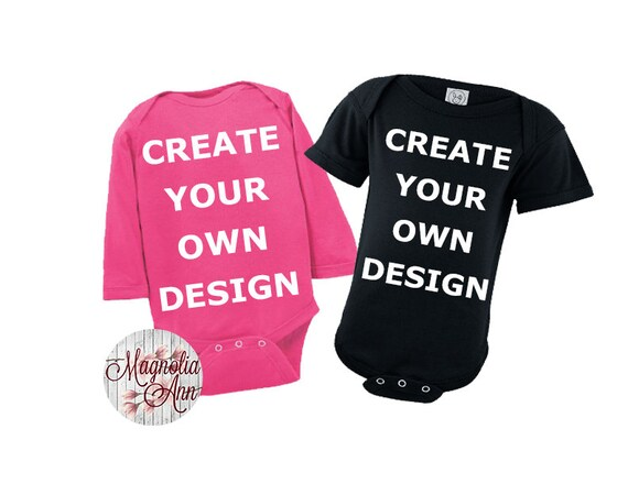 Custom Create Your Own Design Baby Onesie, Baby Shower Gift, Baby Gift, Baby Onesie, Personalized Onesie, Baby Gifts, Custom Baby Outfit