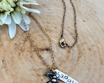 Be Happy Charm Necklace
