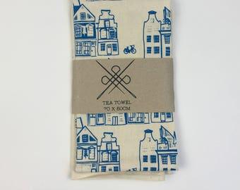 Tea Towel I love Den Haag Blue