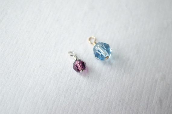 ADD CRYSTAL CHARM - Swarovski Birthstone Crystal or Pearl - 4mm or 6mm