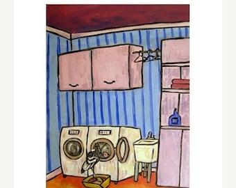 Condor Doing Laundry Art Print
