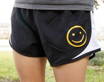 Sherlock Smiley Face Shorts BBC - Gym, Work Out, Exercise, Athletic, Running Clothing