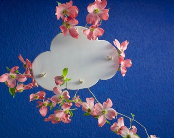 Hanging cloud shelf, plants in the clouds, plant hanger, indoor plantscaping, cloud decor