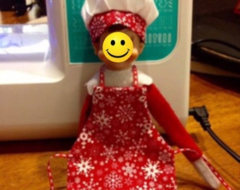 PATTERN Elf doll chef hat and apron