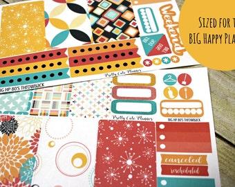 BIG Happy Planner Planner Stickers - Weekly Planner Sticker Set - Happy Planner - Day Designer - Functional stickers - Retro 80s