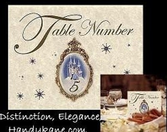 qty 25 Cinderella Wedding favors gown Place Table Number Cards