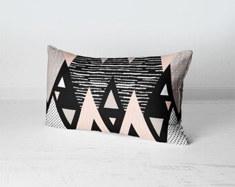 Geometric Throw Pillow, Rectangular Throw Pillow, Scandinavian Home Decor, Nordic Home Decor, Modern Cushion, Scandinavian Pillow