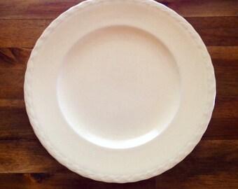 "Vintage Pale Yellow Vernon Kilns Pottery 9.5"" Plate"