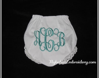 Personalized Baby Bloomers ~ Monogrammed Baby Bloomers ~ Personalized Diaper Cover ~ Monogrammed Diaper Cover - Quick Shipping