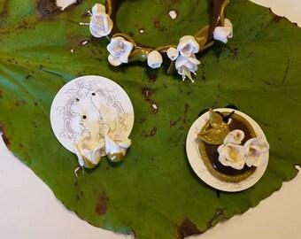 Handmade beautiful blossom jewellery set