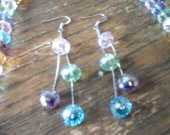 Glass Crystal Neclace & Earrings