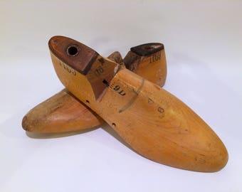 Vintage Wooden Shoe Molds