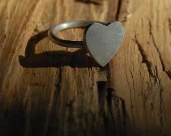 Heart Ring - Sterling Silver - made to order