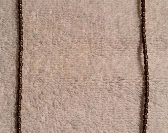"""Handcrafted, Artisan Jewelry Beaded Necklace, Glass Beads and Agate Gemstones, 20"""" Long"""
