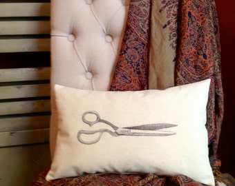 Vintage Scissor Image Pillow