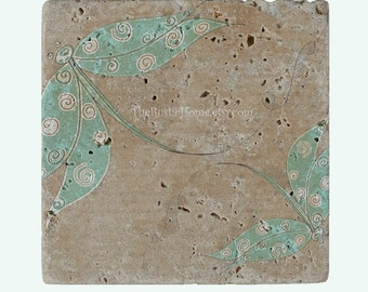 Dragonfly coaster rustic dragonflies stone tile coasters order individually 4x4