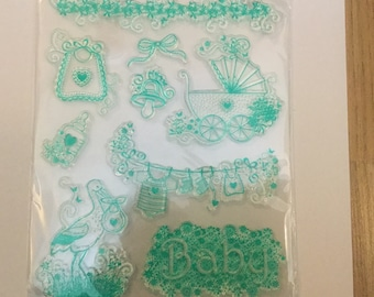 Baby clear stamp